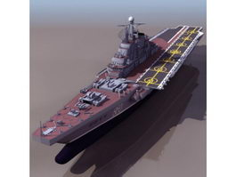 Kiev-class aircraft carrier 3d model