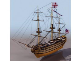 HMS Victory warship 3d model
