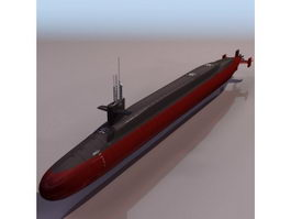 USS Ohio ballistic missile submarine 3d model