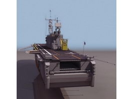 America amphibious assault ship 3d model
