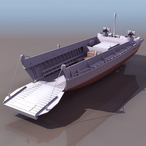Us Navy Landing Craft 3d Model 3ds Files Free Download Modeling