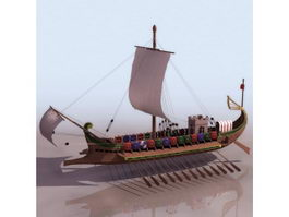 Ancient Roman warship 3d model