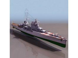 WWII Italian cruiser Pola 3d model