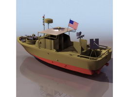US Navy river patrol boat 3d model