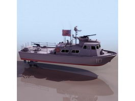 US Army patrol yacht coastal 3d model