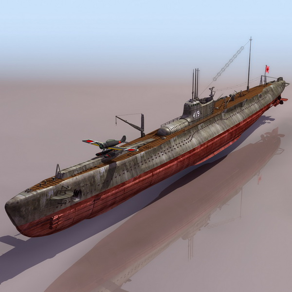 Wwii Japanese Submarine I 19 3d Model 3ds Files Free