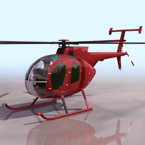 Md 500d Light Utility Helicopter 3d Model 3ds Files Free
