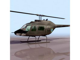 Bell AB-206 JetRanger helicopter 3d model