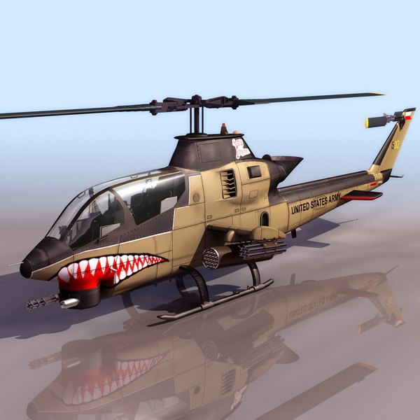 Bell AH-1 HueyCobra attack helicopter 3d model 3DS files ...
