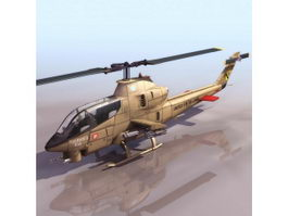 Bell AH-1 SeaCobra attack helicopter 3d model