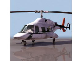 Bell 222 executive helicopter 3d model