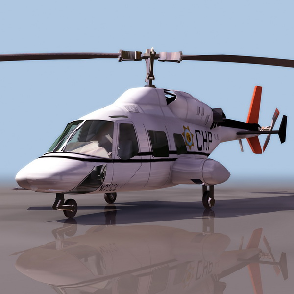 Bell 222 Executive Helicopter 3d Model 3ds Files Free