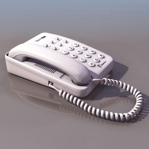 Touch-tone Dialing Telephone 3d Model 3DS Files Free