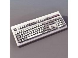 104-key PC keyboard 3d model
