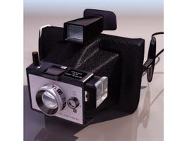Polaroid land camera 3d model