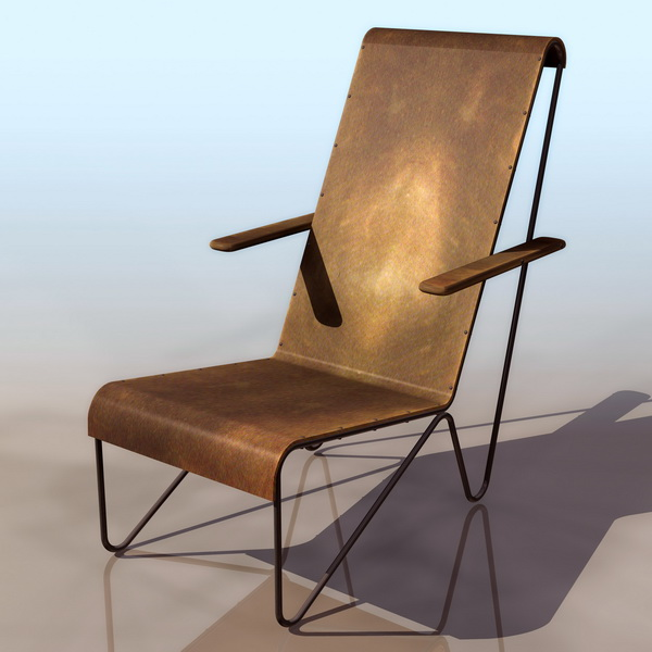 old furniture garden chair 3d model