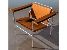 Le Corbusier cube-shaped high armchair 3d model