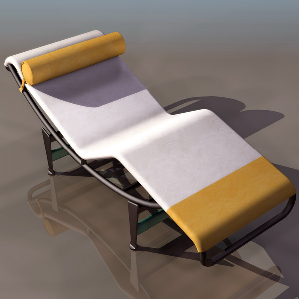 Le corbusier chaise longue 3d model 3ds files free for Chaise longue le corbusier prix