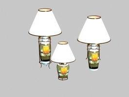 Ceramic vase table lamp 3d model