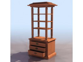Antique corner shelf 3d model