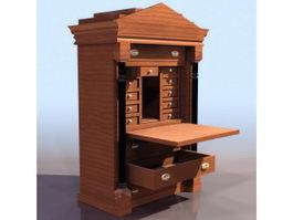 Biedermeier style bureau 3d model