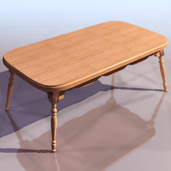 Windsor coffee table 3d model 3ds files free download for Coffee table 3d model