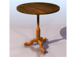 Ancient European coffee table 3d model