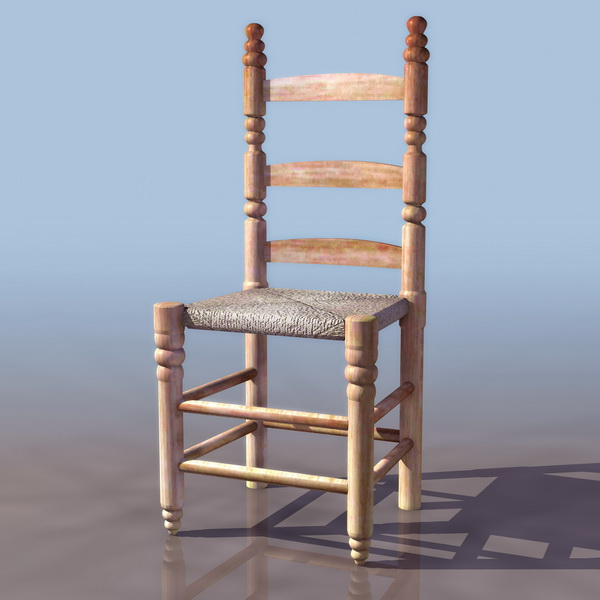 Medieval Wood Chair 3d Model 3ds Files Free Download