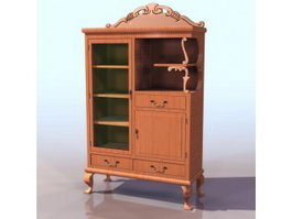 Antique sideboard 3d model