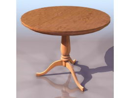 Antique round table 3d model
