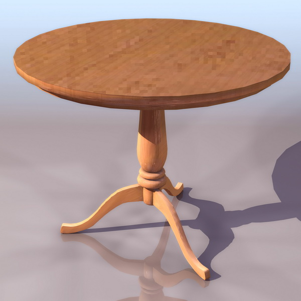 Antique round table 3d model 3ds files free download for Table design 3d model