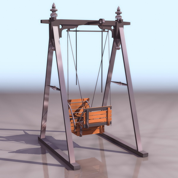 garden swing chair 3d model