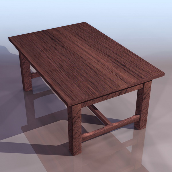Folk art wood table 3d model 3ds files free download for Table 3d model