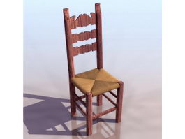 Traditional furniture side chair 3d model