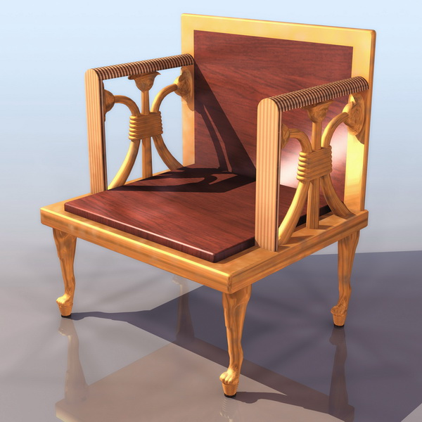 Ancient Egyptian Throne Chair 3d Model