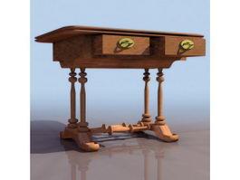 Biedermeier style table 3d model