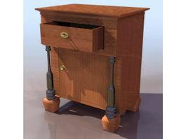 Biedermeier style nightstand 3d model