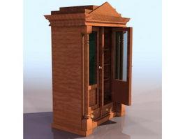 Ancient display cabinet 3d model