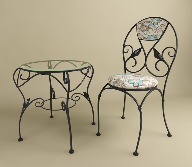 Wrought Iron Table And Chair 3d Model 3dsmax Files Free