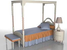 Little girls room furniture sets 3d model