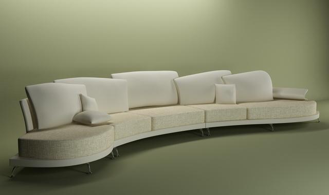 arc shaped sectional sofa  model dsmaxds files   modeling   cadnav