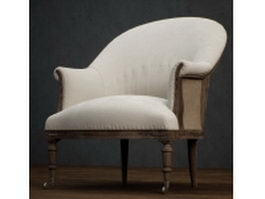 Classic wing chair 3d model