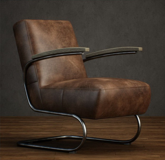 Cantilever Leather Armchair 3D Model
