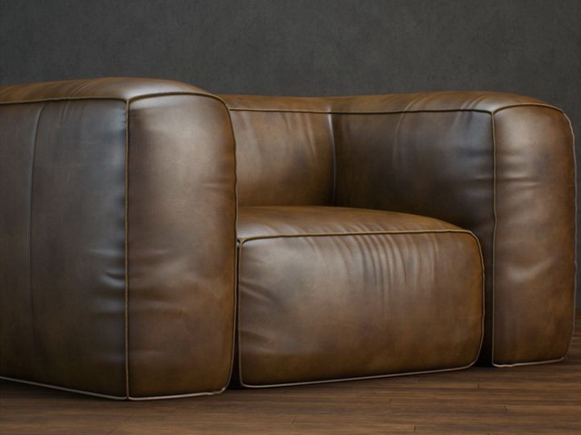 Upholstered Leather Sofa 3d Model 3dsmax Files Free Download