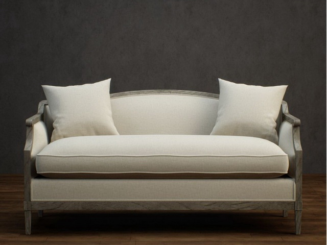 Classic Fabric Loveseat 3d Model 3dsmax Files Free
