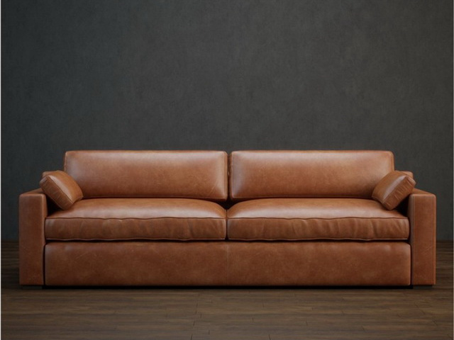 2 seater upholstered leather couch 3d model 3dsmax files