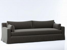 Upholstered cushion couch 3d model