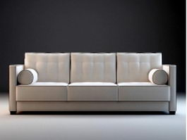 Fabric couch sectional 3d model