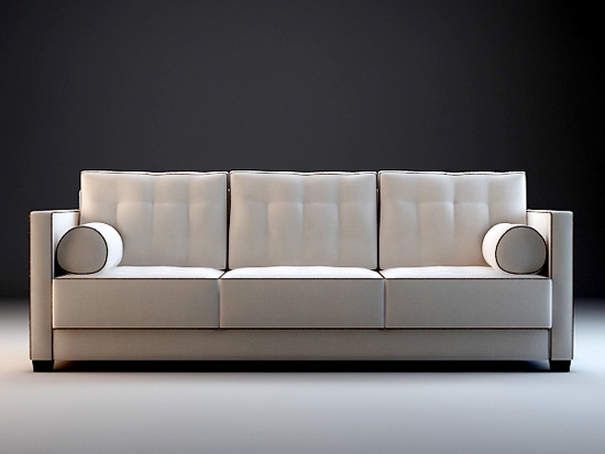 Fabric Couch Sectional 3d Model 3dsmax 3ds Files Free