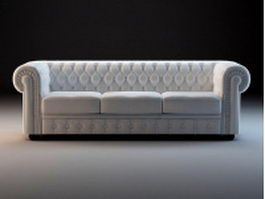 Chesterfield sofa set 3d model